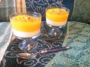 Apricot milk pudding