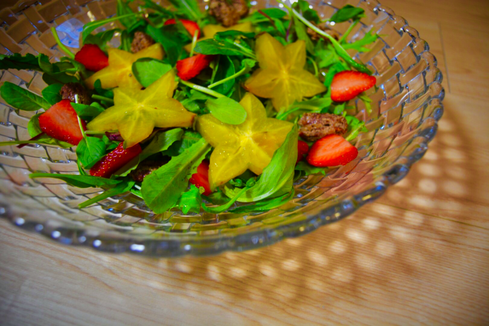 Strawberry and starfruit salad